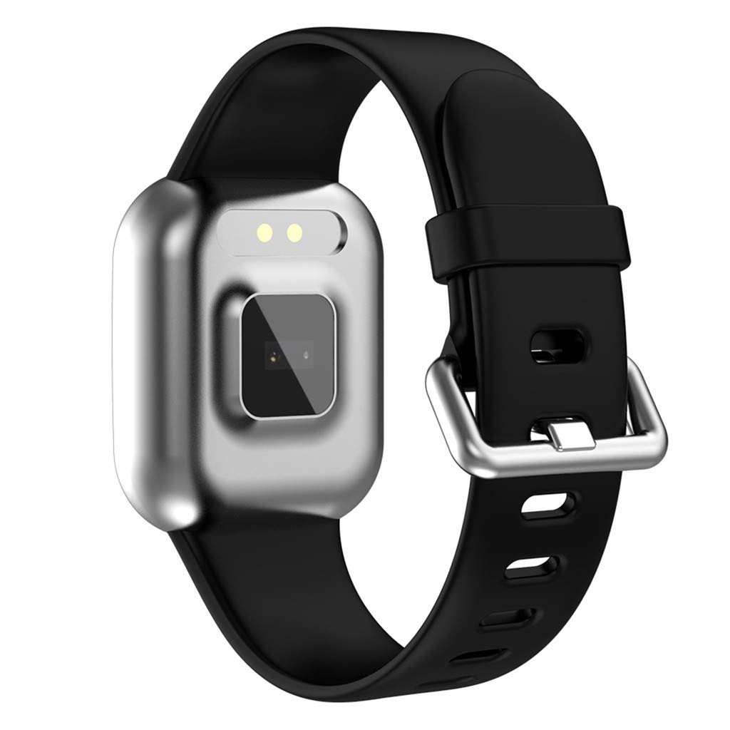 WELCOMEUNI Smart Watch for Android iOS Sports Fitness Calorie Wristband Wear All-Day Heart Rate Smart Watch