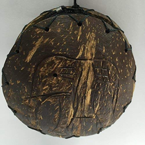 Coconut shell purse - craved elephant design
