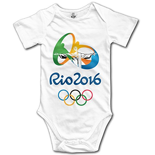 Price comparison product image Olympics Games Boy's & Girl's The 2016 Rio De Janeiro White Tee Shirt Size 18 Months