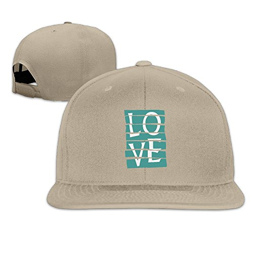 Unisex L O V E Love Jeans Couple Gift Snapback Hats Vintage Baseball Cap Adjustable Flat Hat