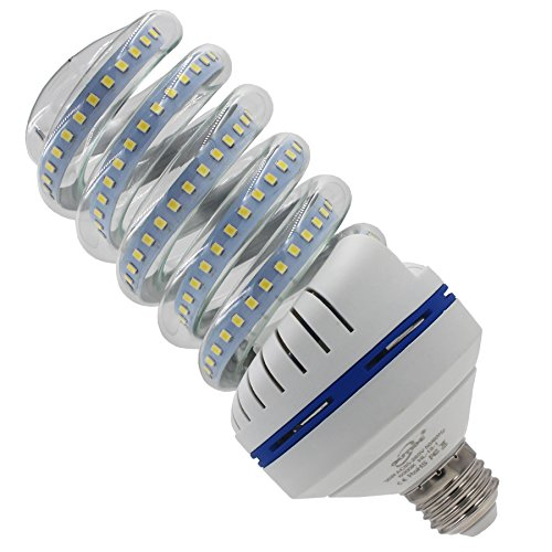 Light 30w Bulbs (OUYIDE bright white led light bulbs 5000K A25 Spiral LED Corn Light Bulbs 250 Watt Equivalent 30W Daylight E26 medium Base)