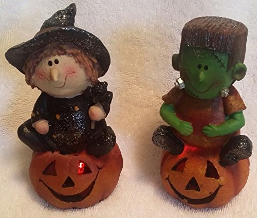 Halloween Lot of 2 LED Flashing Kids Witch Prop Decor Party (Halloween Pumpkin Songs For Preschoolers)