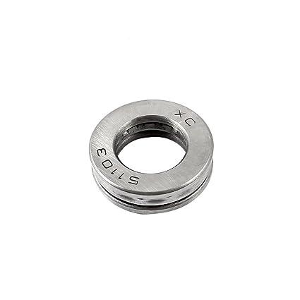 Sourcingmap/® Sustituci/ón del Rodamiento de Bolas de Empuje axial 51103 17mm x 30mm x 9mm