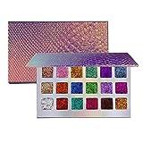 SUNTIRC Diamond Eyeshadow Palette 18 Highly Pigmented Waterproof & Long-Lasting Pressed Glitter Eyeshadow Palette