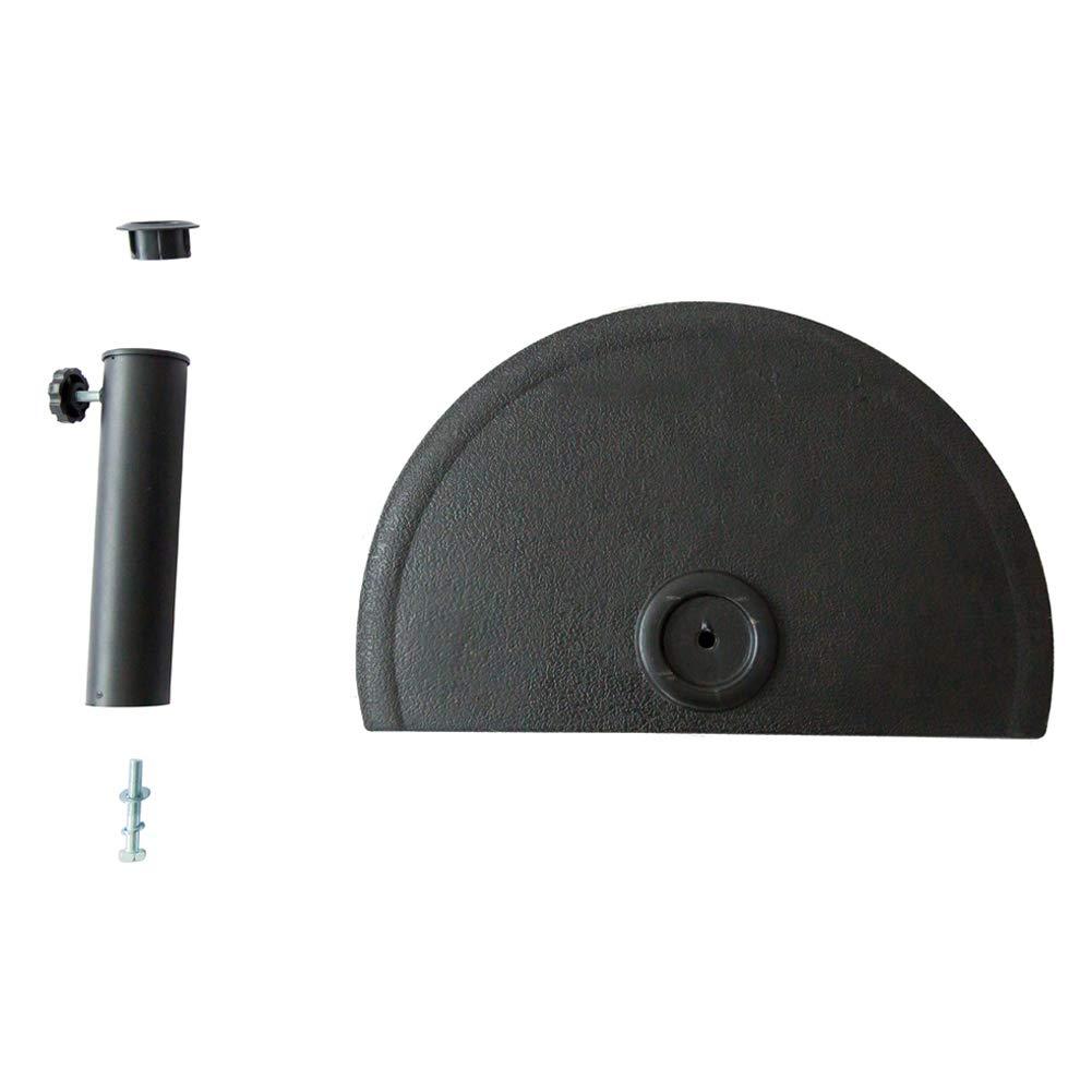 C-Hopetree Half Round Patio Umbrella Base Heavy-Duty Outdoor Stand 20lbs Black