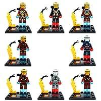 NW Set New 6 pcs Iron Man Ironman Building Blocks Toys Mini figures The Avengers GT(Without Original Box)