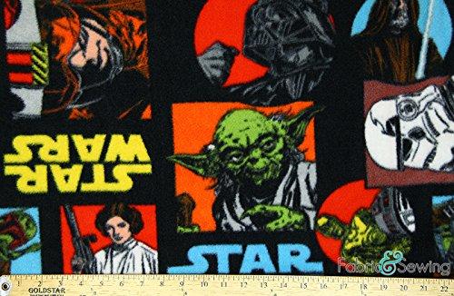 "Star Wars Black Anti-Pill Polar Fleece - Plush Fabric Polyester 13 Oz 58-60"""