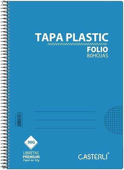 Casterli - Pack de 8 cuadernos espiral, tapa plástico, tamaño A5 ...