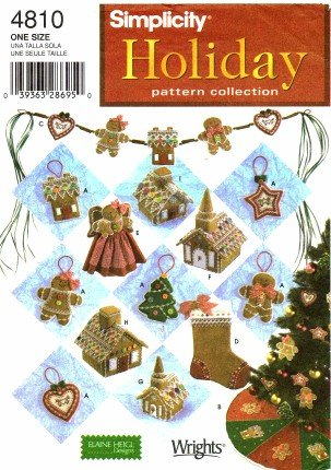 Amazon.com: Simplicity 4810 Sewing Pattern Holiday Crafts Christmas ...