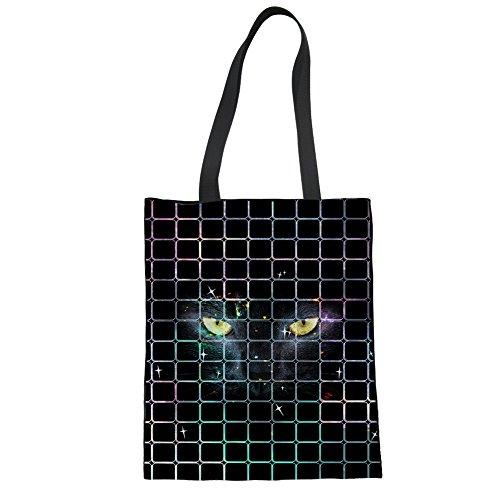 HUGS IDEA Y-CC300Z22 - Bolso de tela para mujer, dinosaurio (Verde) - Y-CC3009Z22 gato