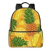 Shoulder Backpack Watercolor Pineapple Art Large School College Laptop Backpacks Bag Bookbags