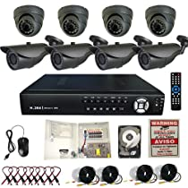 Evertech 8 Channel Home/office/store indoor/outdoor Clouid Option Surveillance Security H.264 DVR Camera System CCTV with 700TVL IR 8 Cameras-2tb HDD