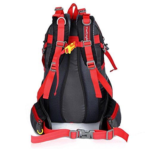 Mountaineering Bag Outdoor Männer und Frauen Schulter Rucksack nylon Wanderpackage wasserdichte Multifunktion Bergsteigen Taschen , Violett
