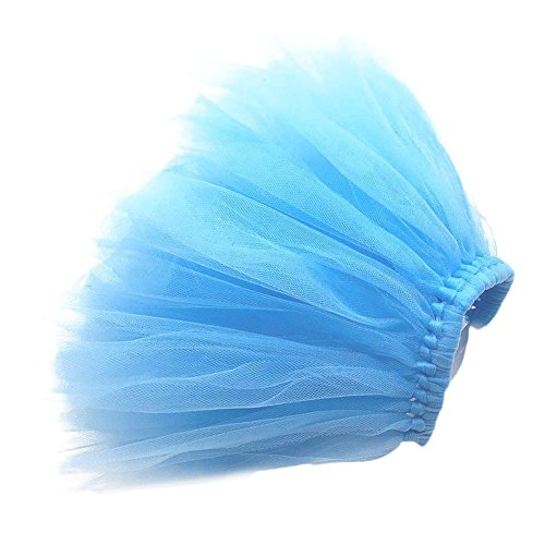 Zadaro Pet Dog Cat Puppy Princess Tutu Dress Party Skirts Clothes Costume Apparel (Blue, M)]()