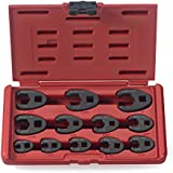 Neiko® 03323A 3/8-inch and 1/2-inch drive SAE Crowfoot Wrench set, CR-MO, | 12 piece set