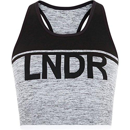 58695a52a0 LNDR A-Team Sports Bra - Women s Grey Marl Black
