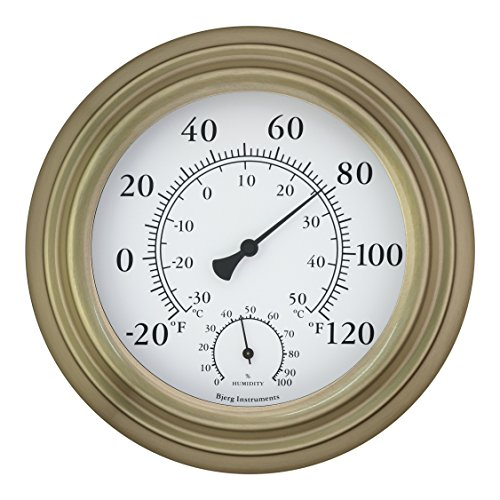Outdoor Thermometer Hygrometer (Bjerg Instruments Antique Brass 8