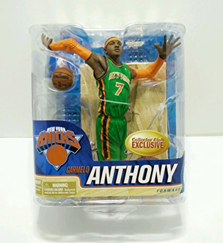 McFarlane NBA 6 Carmelo Anthony Green Uniform Collectors Club Variant Exclusive New York Knicks Figure