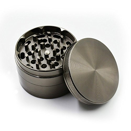Herb, Spice or Tobacco Pollen Grinder 2.5 Inch 4 Piece Weed Grinder with Pollen Catcher Gun Black - Prosshop (Tobacco Grinder Watch compare prices)