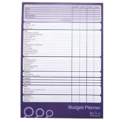 amazon com a4 budget finance money planner large 50 sheets