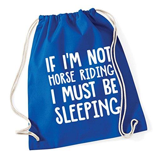 Royal litres If School 46cm 12 must Cotton Blue Gym Kid riding Drawstring 37cm x Bag HippoWarehouse be sleeping horse Sack I not I'm 1cWwPgpRq