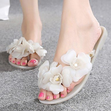 RUGAI-UE Moda de Verano Mujer sandalias casuales zapatos de tacones PU Confort,Plata,US9 / UE40 / UK7 / CN41 Nude