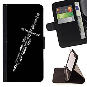 Jordan Colourful Shop - Design Master Sword For Apple Iphone 4 / 4S - Leather Case Absorci???¡¯???€????€??????????&