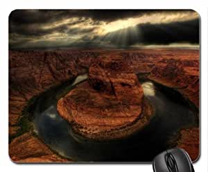 Cloudy Snake River Mouse Pad, Mousepad (Rivers Mouse Pad)