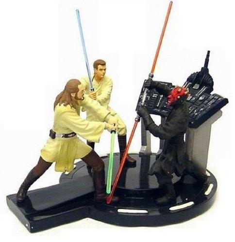 Star Wars Episode I Duel of the Fates Qui-Gon Jinn & Obi Wan Kenobi vs. Darth Maul Diorama