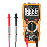 Multimeter,Triple Tree 6000 Counts PM18C AC DC Voltage Current Resistance Tester Non-Contact Voltage Test Temperature Digital Multimeter Voltmeter Ammeter Ohmmeter with Backlight LCD for DIY