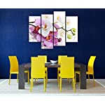 4-Pieces-Modern-Canvas-Painting-Wall-Art-The-Picture-for-Home-Decoration-Butterfly-Orchid-in-Pink-and-White-with-Drop-of-Water-On-White-Background-Flower-Print-On-Canvas-Giclee-Artwork-for-Wall-Decor