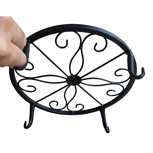 B1ST Plant Stand Wrought Iron Planter Trivet Flowerpot Holder Olde Metal / Iron Art Flower Pot Supporting Indoor Outdoor Garden Pack of 3 Colors by B1ST (Image #3)