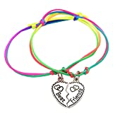Catnew Fashion Women Girl Letter Carved Heart Best Friend Matching Bracelet -4