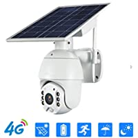 4G LTE Wireless Security Camera w/Solar Panel - Solar Powered WiFi System w/Rechargeable Battery Outdoor Waterproof…