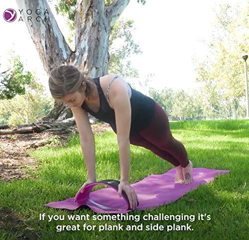 Amazon.com: Rueda de entrenamiento de arco de yoga, soporte ...