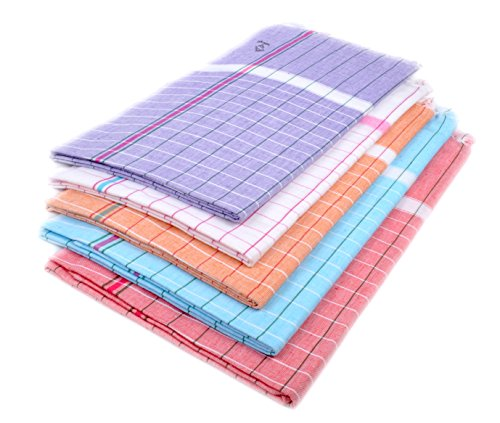 Sathiyas Cotton Bath Towel 240 gsm (Set of 5 Pieces, Multicolor)