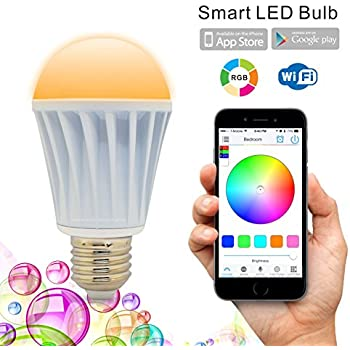 Flux WiFi Smart LED Light Bulb - Works with Alexa - Smartphone Controlled  Multicolored Color Changing
