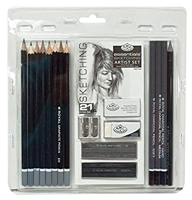 Popular Art Tool Set 21 Pieces Sketching Drawing Artist Pencil Set Art Charcoal Graphite Pack Kit iG-676