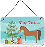 Caroline's Treasures Arabian Horse Christmas Metal Print, 8'' x 12'', Multicolor