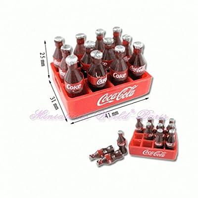Accessoire de maisons de poupées miniature - Caisse de 12 bouteilles de soda