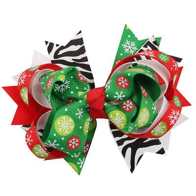 XENO-Christmas Halloween Bow Hairpin Boutique Baby Girls Toddler Hair Clips Barrettes (christmas (Tiffany Barrette)