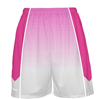 Lightningwear Hot Pink Basketball Shorts Ombre Fade Basketball