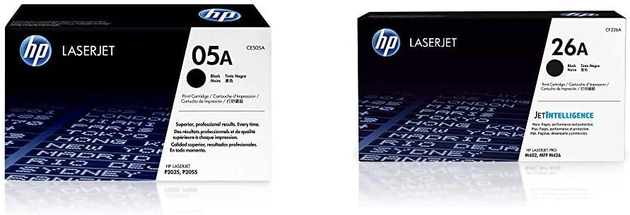 HP 05A | CE505A | Toner Cartridge | Black & 26A | CF226A | Toner Cartridge | Black