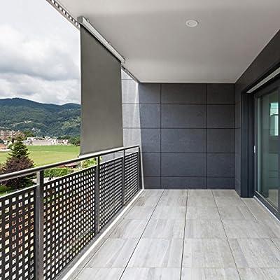 blumfeldt Cosmo Toldo para balcón Cortavientos de jardín Enrollable automático Lateral (Superficie de 150x200cm, fácil instalación) - Antracita: Amazon.es: Jardín