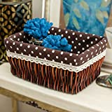 storage basket/ rattan storage box/Desktop snack debris basket in the kitchen-C 27x17cm(11x7inch)