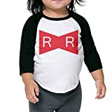 Ball Red Ribbon Army Logo Kids 3/4 Raglan Baseball T Shirts