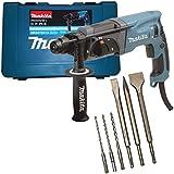 Makita HR2470 Bohrhammer für SDS-PLUS 24 mm inkl. 6tlg. Bohrer-/Meissel-Set