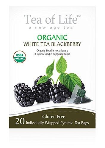Tea Of Life Organic White Tea, Blackberry, 20 Count