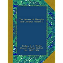 The decrees of Memphis and Canopus Volume 3