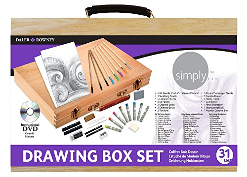 Daler Rowney Simply Drawing Wood Box Set by Daler Rowney